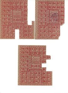 French ration stamps from World War II. Source: Wikipedia